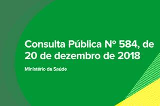 Saiba tudo sobre a Consulta Pública 584/2018